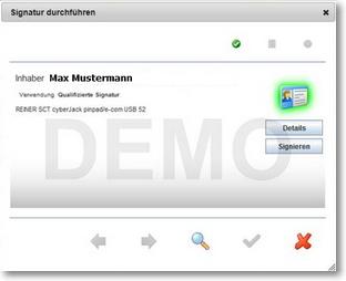 Screenshot DEMO Lizenz