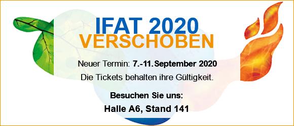IFAT 2020 auf September verschoben
