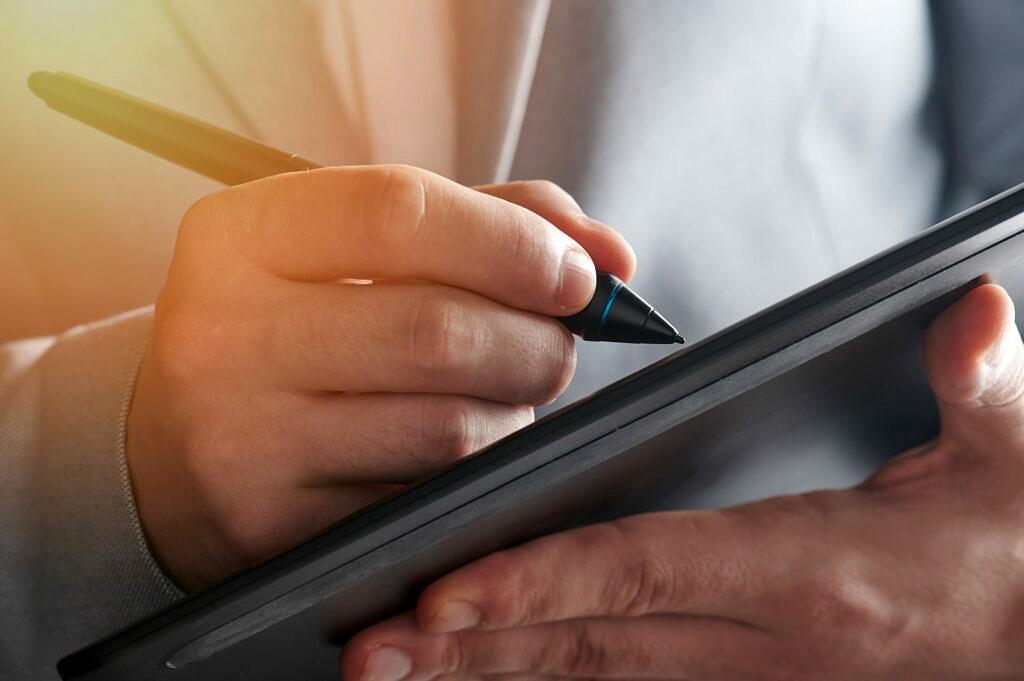 Portfolio-Erweiterung mit einem Signaturpad zur einfachen digitalen Unterschriftenerfassung