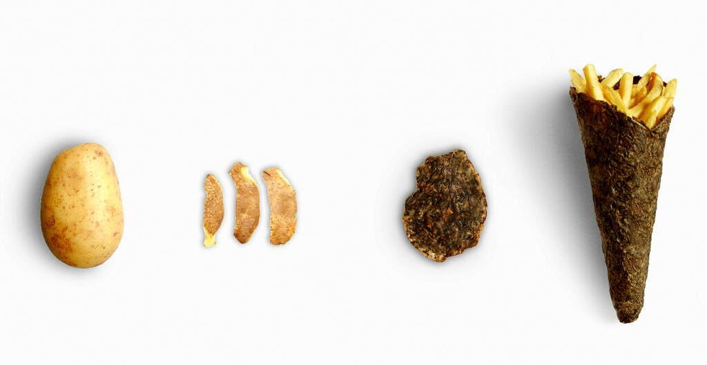 Nachhaltige Lebensmittelverpackungen aus Kartoffelschalen
