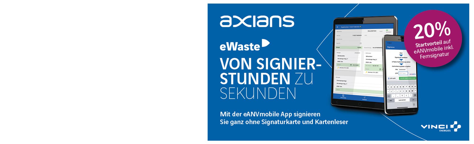 AKTION: eANVmobile inkl. Fernsignatur für eANV und PDF*